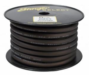 Stinger Select SSVLP0BK 1/0 Gauge Power Ground Wire Matte Black 50 Ft Car Audio