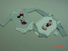 Nwt 2 Disney Infant Girl Soft Cotton Creepers 0-3 month Daisy Duck Minnie Mouse
