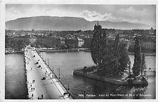 Br33147 Geneve pont du Mont Blanc switzerland