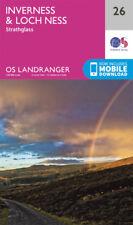 Inverness Loch Ness Strathglas Landranger Map 26 Ordnance Survey 2016