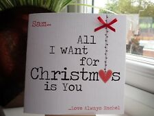Personalised Christmas Card Husband Wife Boyfriend Girlfriend Fiancee Fiance
