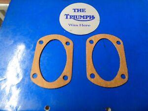 TRIUMPH PRE UNIT 5T 6T T100 T110 T120 SUMP FILTER PLATE  GASKETS X2 70-0487