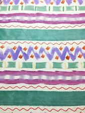 Peter Fasano Hand Painted Designer Upholstery Fabric Linen Blend 4 + YD RARE