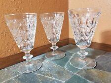 """3 Jeannette """"Thumbprint"""" Water Goblets Glasses 6 1/4"""""""