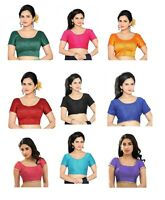 Indian Bollywood Style Silk Saree Blouse Wedding Choli Top Women Party Wear Tops
