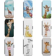 CUTE GIRAFFE BABY GIRAFFE ANIMAL WALLET FLIP PHONE CASE COVER FOR HUAWEI MODELS