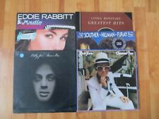 Lot Of 6 Classic Rock Albums Billy Joel Elton John Linda Ronstadt Eddie Rabbitt