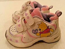 Buster Brown Disney Winnie The Pooh Sneaker Shoes Leather Infant Baby Girl 5 EUC