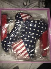 Ladies high heeled American flag shoes - Size 5