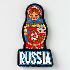 Souvenir. A magnet on the fridge. Russian nesting doll. Rubber.