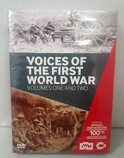 Voices Of The Prima World War Volumi 1 e 2 DVD Video Ww1 History Film L
