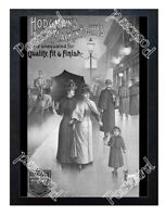 Historic Hodgman's Mckintoshes Raincoats Advertising Postcard