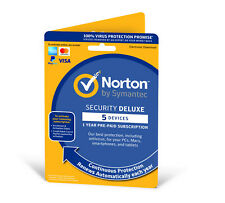 Norton Internet Security DELUXE 2019 5 Device 1 Year  *Fast Emailed Licence Key*