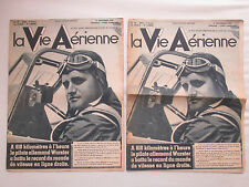 VIE AERIENNE 111 RECORD WURSTER ME 109 OUTRE MER AMIOT MOTEUR BOURGET PICCARD