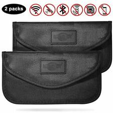 2 Pack Large Faraday Bag Signal Blocking Pouch for Car Keys RFID and Key Pouch