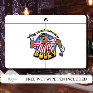 Personalised Darts Scoreboard bullseye game show bully themed metal sign