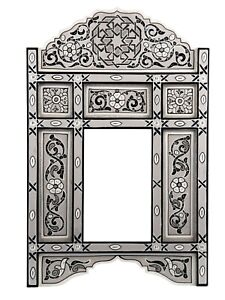 Decorative mirror Gray framed mirror leaning floor Antique Mirror, hand painted