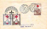 FDC - Italia 1959 - II Guerra di indipendenza Lire 25 con valori del Belgio