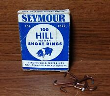 Vintage Box Of Seymour Hill Pattern Shoat Rings Seymour Mfg. Co Seymour, In