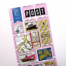 13x Sea Travel, Ticket, Ships Themed Stickers