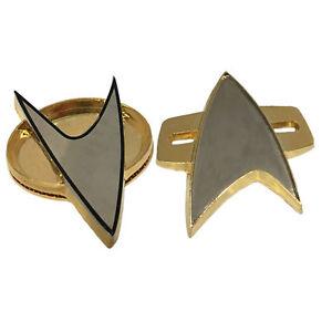 New 2PCS Star Trek Badge Cosplay Next Generation Voyager Communicator Pin Brooch
