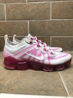 Nike Air Vapormax 2019 White/Pink Womens Running Training AR6632-105 Size 10 New