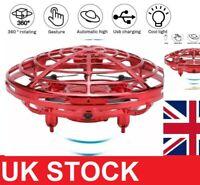 Mini Drone Quad Induction Levitation UFO Flying Toy Hand-controlled Kids Gift UK