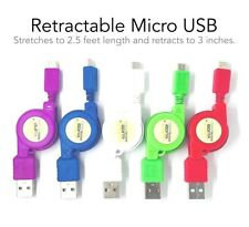 Samsung S5 S6 S7 Edge Note 2 4 5 Retractable Micro USB Charge Charger Sync Cable