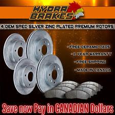FITS 2010 2011 DODGE GRAND CARAVAN OE BLANK Brake Rotors CERAMIC SLV