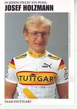 CYCLISME carte  cycliste JOSEF HOLZMANN équipe TEAM STUGGART