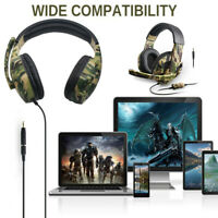 3.5mm Wired Stereo Bass Surround Gaming Headset for PS4 New Xbox One PC with Mic