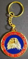 """CIA Eagle """"You Shall Know The Truth"""" Keychain Challenge Coin Style Vintage 1.75"""""""