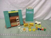 Fisher Price Little People Play Family 990 C Frame House Chalet 100% extras lot