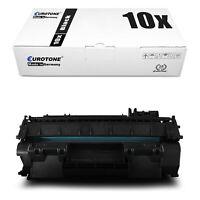 10x Eurotone ECO Toner XXL für HP LaserJet P-2055-DN P-2057-X P-2057-D P-2055-D