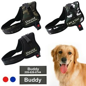 Custom Personalized Name Breathable Adjustable Harness Walking Handle Dog Vest