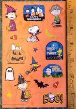 VTG PEANUTS sticker Sheet~SNOOPY~HALLOWEEN~SandyLion~Lucy~Charlie Brown~Pumpkin
