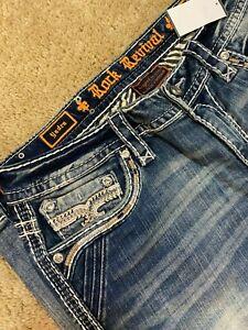 Rock Revival Yadra Ankle Skinny EP9412AK203A Denim women jeans size 32 - NEW
