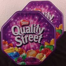 Pair of 2011 Original Quality Street Food Storage Tins Baking Cooking Free P&P