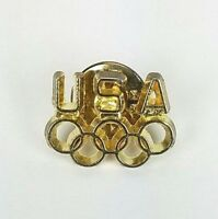 USA Olympic Team 5 Golden Ring Classic Lapel Hat Pin Sports Collectible