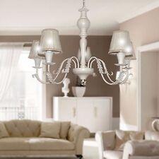 LAMPADARIO classico provenzale SHABBY CHIC 5 Luci legno e ferro camera da letto