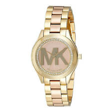 Reloj De Pulsera pista Para Mujer Michael Kors MK3650 Mini dos tonos