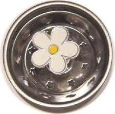 7128 Enamel Daisy Flower Kitchen Sink Drain Strainer Stopper Billy Joe Homewares