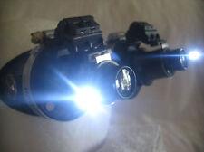 Pro Steampunk ® Safety Goggles Black Industrial Neuroculars Dual Flip 20X LED