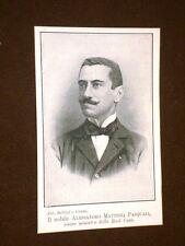 Alessandro Mattioli Pasqualini di Cingoli nel 1909 Ministro della Real Casa
