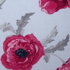 Set of 2 Laura Ashley 11 inch x 11 inch fabric off cuts - Freshford Poppy Red