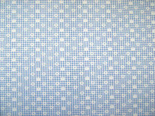 Daisy Gingham Check Blue Polycotton Prints Dress Fabric 112cm Wide SOLD PER M