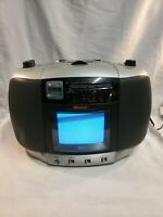 Memorex Black & White TV AM/FM Stereo Radio CD Player Portable Boombox MPT3450