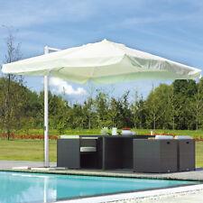 Ombrellone telo quadrato 3x3 m con palo laterale in alluminio e copertura bianca