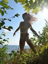 0040-JML Nude in Nature Fit Young Woman Naked Goddess Hair Lake Superior Maher