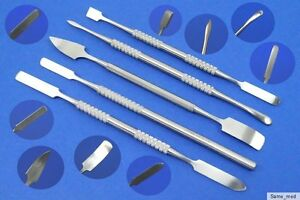 Gel Spatula, Nail Cleaner, Cuticle Pusher 5 Piece Set
